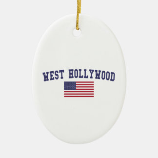 West Hollywood US Flag Christmas Ornament