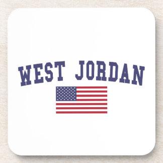 West Jordan US Flag Coaster