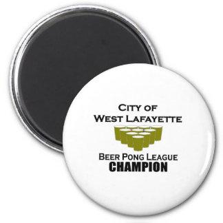 West Lafayette Beer Pong Champion Magnet