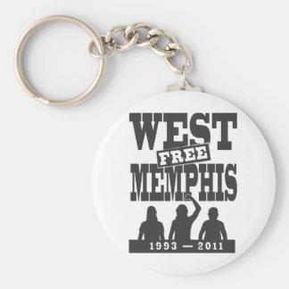 West Memphis Three Basic Round Button Key Ring