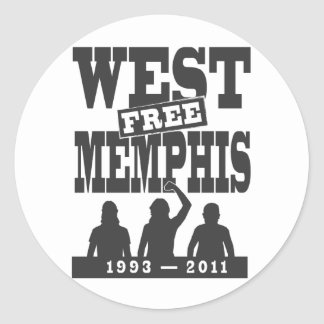 West Memphis Three Classic Round Sticker