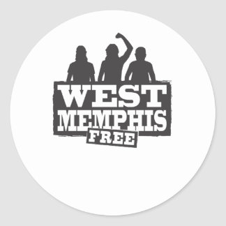 West Memphis Three Round Sticker