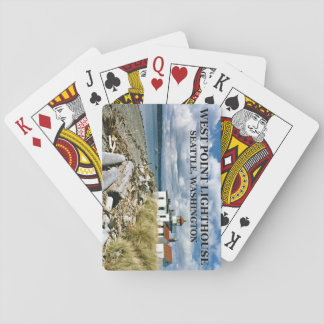 West Point Lighthouse, Seattle Washington Playing Cards