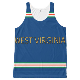 West Virginia All-Over Printed Unisex Tank