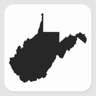 West Virginia Black and White Stickers