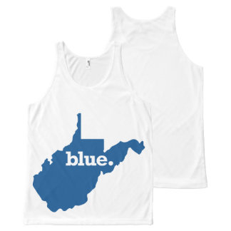 WEST VIRGINIA BLUE STATE All-Over PRINT SINGLET