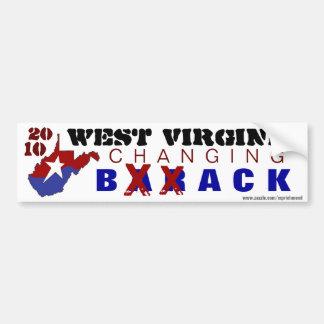 West Virginia Changing Back 2010 Bumper Sticker