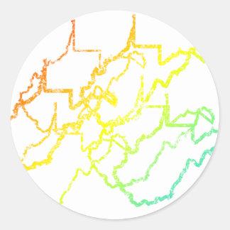 west virginia chill blur round sticker