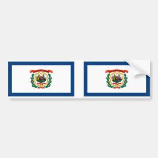 West Virginia flag Bumper Sticker