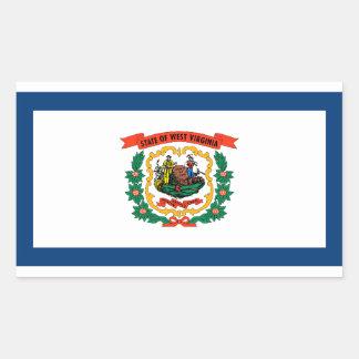 West Virginia Flag Rectangular Sticker