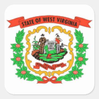 West Virginia Flag Square Stickers