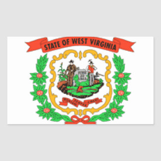 West Virginia Flag Rectangle Stickers