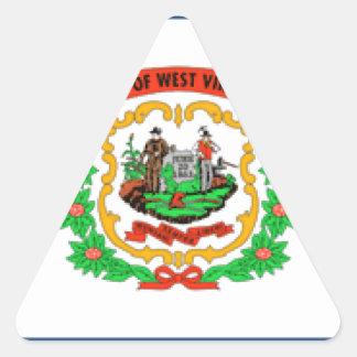 West Virginia Flag Stickers