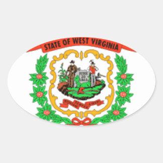 West Virginia Flag Oval Sticker