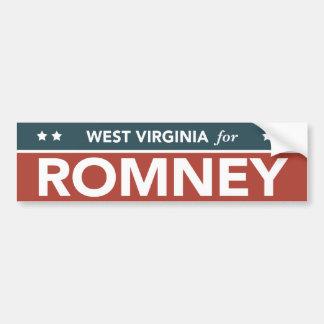 West Virginia For Mitt Romney Ryan Bumper Sticker Car Bumper Sticker