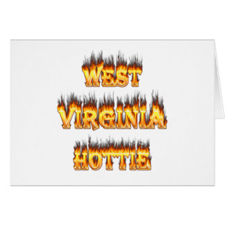 West Virginia Hottie fire and flames Card