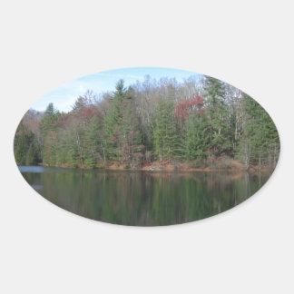 West Virginia Lake Oval Sticker