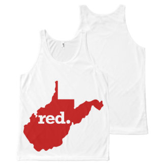WEST VIRGINIA RED STATE All-Over PRINT SINGLET