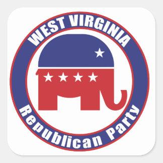 West Virginia Republican Party Square Sticker