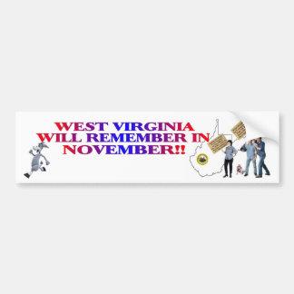 West Virginia - Return Congress To The People!! Bumper Sticker