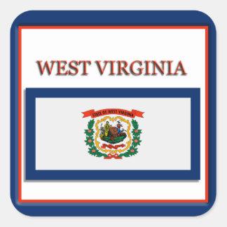 West Virginia State Flag Design Sticker