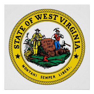 West Virginia state flag seal united america count Poster