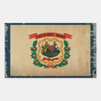 West Virginia State Flag VINTAGE Rectangle Sticker
