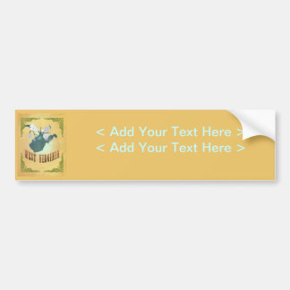 West Virginia State Map- Passion Fruit Yellow Car Bumper Sticker