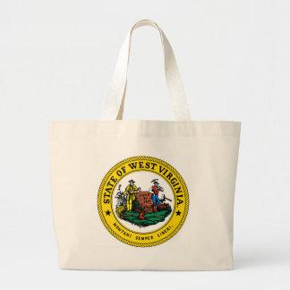 West Virginia state seal.jpg Jumbo Tote Bag