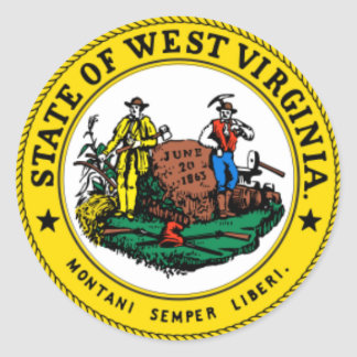 WEST VIRGINIA State seal of West Virginia Sticker