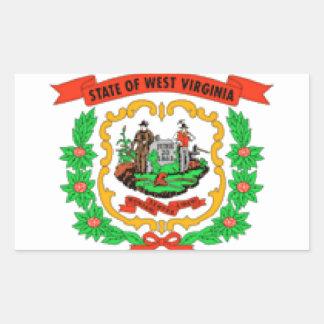 West Virginia Rectangular Stickers