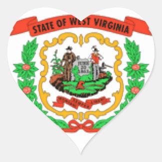 West Virginia Heart Stickers