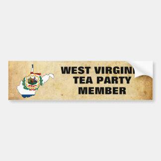 WEST VIRGINIA TEA PARTY CAR BUMPER STICKER