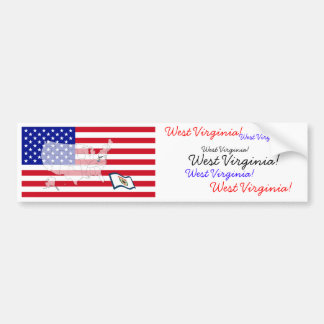 West Virginia, USA Car Bumper Sticker