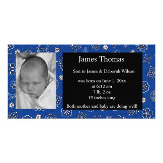 Western Baby Birth Announcement Card