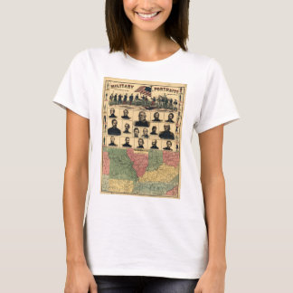 Western Boarder States Military Portraits (1861) T-Shirt