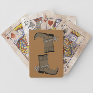 Western Boots - Ranch or Farm Bicycle Playing Cards