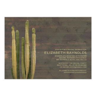 Western Cactus Bridal Shower Invitations Invite