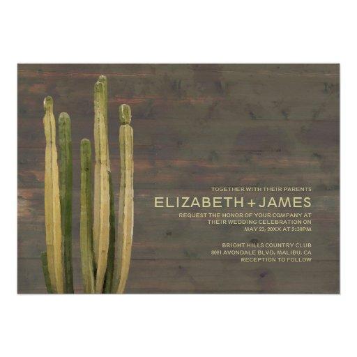 Western Cactus Wedding Invitations Cards