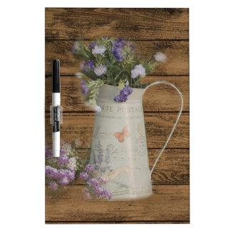 western country lavender rustic barn wood dry erase board