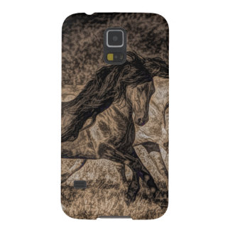 western cowboy rodeo Galloping wild horses Case For Galaxy S5