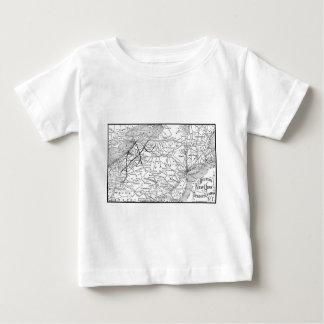 Western New York and Pennsylvania Railway Map Baby T-Shirt