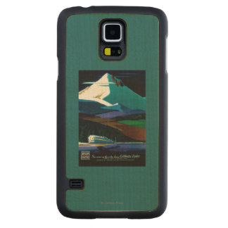 Western Pacific California Zephyr Vintage Poster Carved Maple Galaxy S5 Case