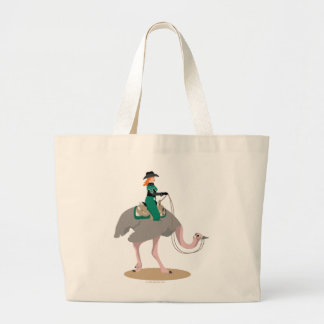 Western Pleasure Ostrich Large Tote Bag