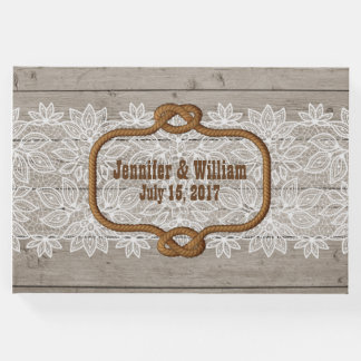 Western Rustic Theme Wedding Guest Book