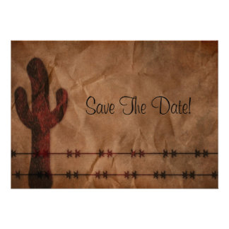 Western Save The Date Invitation