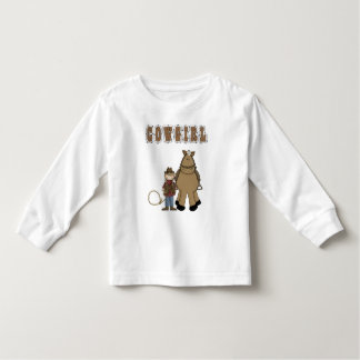 Western Style Fun! Cowgirl Rope Horse T Shirt LS
