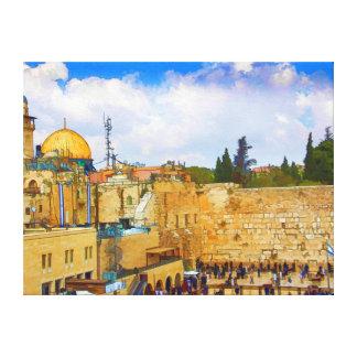 Western Wall in Jerusalem (Wall of Sorrow) Canvas