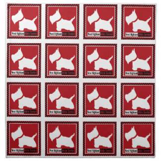 Westie Checkers Napkin