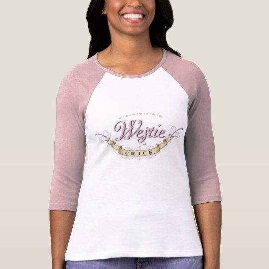 Westie Chick Raglan top